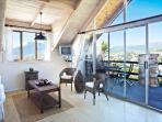 Loft Suite (sleeps2/3/4) light and bright & views