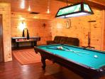 Game Room with Pool and Air Hockey