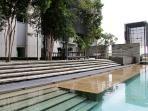 Ourdoor infinity pool, children pool with landscape garden