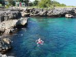Crystal clear water with healthy coral reefs, perfect for snorkelling and under water life