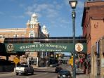 Historic downtown Houghton with great restaurants and 2 microbreweries.