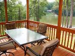 Screened in Porch overlooking huge part of the serene cove