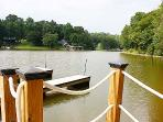 Picture of new dock for boating, sunning, fishing, jet ski and just relaxing