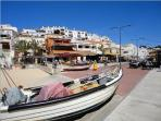 Carvoeiro Town Square with bars, cafes, restaurants and shops