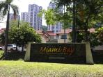 Apartment view from main road (Jalan Pantai Miami, Batu Ferringhi)