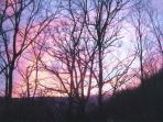 Beautiful sunset in the mountains at blue knob ski resort. Enjoy all the breathtaking views and nature