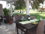 Enjoy views of the 10th fairway from the patio