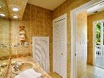 Master Bathroom w/ Door to Front Deck