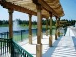 Fishing dock for catch and release fishing.  $2.00 rental fee for a fishing pole and bait.