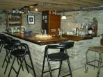 Stone bar in Billiards Room