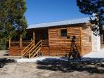 New, luxurious cedar log cabin in the heart of the Texas Hill Country