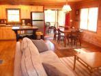 Living Room & Kitchen from front door