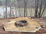 Fire Pit Overlooking Lake, now has 6-8 adirondack chairs, not shown.