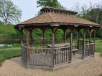 gazebo at river.  3/4 mile walk or drive from house