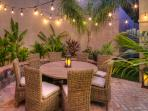 Leeward Patio for dining and BBQ