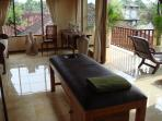 Upstairs living area with your own massage table