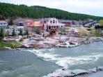 The famous Pagosa Hot Springs a short drive away