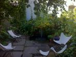 Garden Chairs around the fountain