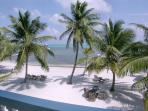 View of private beach from your balcony on the second floor! Stunning views of the ocean waterfront!