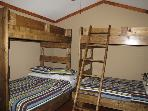 Third Guest Bedroom with Two Twins Full Bunk Beds