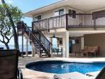 Luxurious oceanfront home with pool & Jacuzzi.