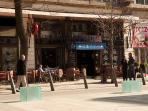 The VenDiak restaurant just beside the entrance gate of the building