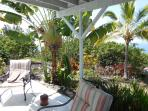 Tropical greenery abounds
