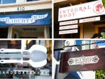 Local businesses on Cortland Avenue within walking distance from the house.
