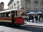 You can hop on a historical tram