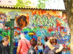 The famous John Lennon Wall