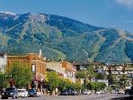 The town of Steamboat in the summer