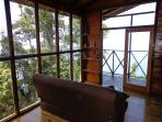 La Vapeur Cabin Living Area