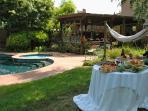 Picnic in backyard