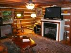 Woodstove, Gas Fireplace, and 50' HDTV