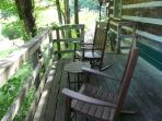 Rocking Chairs and Table on Deck