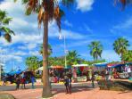 The Marigot Bay daily market