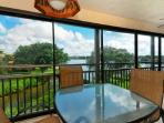 Tranquil Seating on the Lanai for Dining