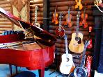 Our music room. The instruments are yours to play, so enjoy!