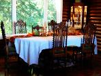 Our formal dining room. We can comfortably fit 12, but can alter the space to sit 25.
