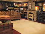 The TV Room. We have over 200 DVDs for your watching pleasure!