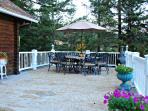 Our outdoor living spaces are fantastic. Large decks, several furniture pieces and lots of space.