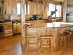 Hickory Kitchen bar with seating for eight
