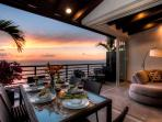 Year Round Sunsets on West Facing  Corner Terrace as Featured on HGTV 'House Hunter's International.