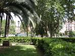 A Lush of Green... Piazza Vittorio Rome's largest square 50 meters from the apartment