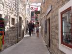 Town of Primosten 45min drive:  with small streets pedastrian area with many restaurants shops cafes
