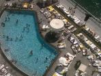 Pool aerial view
