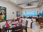 Dining living area view of Tamarindo bay