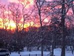 sunrise in december