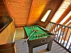 Bumper Pool table on Loft