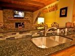 Black granite counter tops